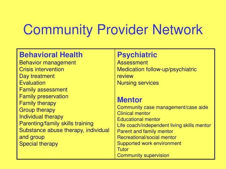 Community Provider Network