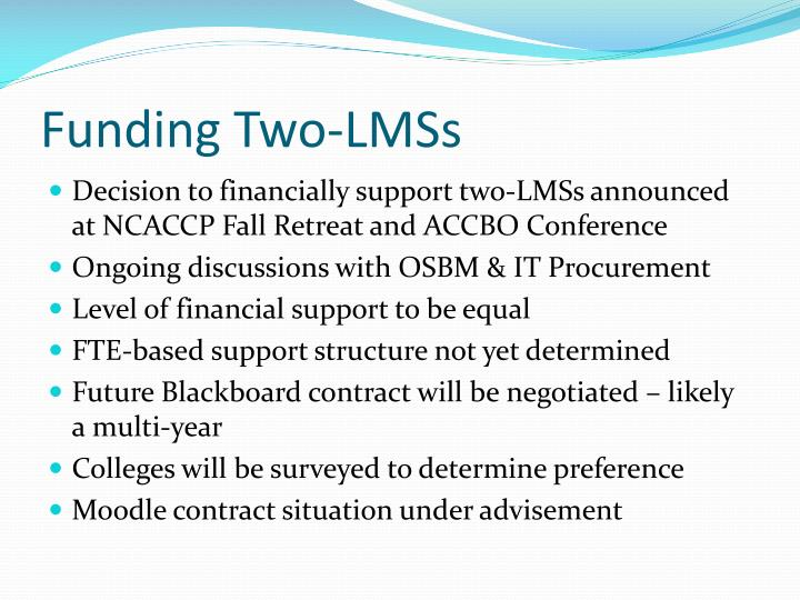 Funding Two-LMSs