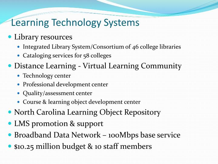 Learning Technology Systems