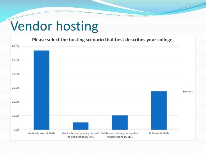 Vendor hosting