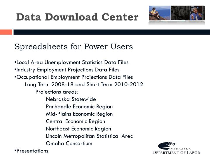 Data Download Center