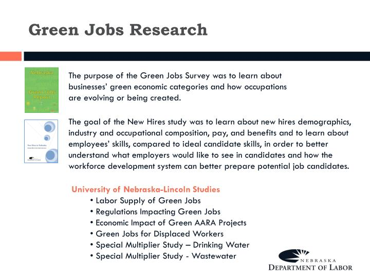 Green Jobs Research