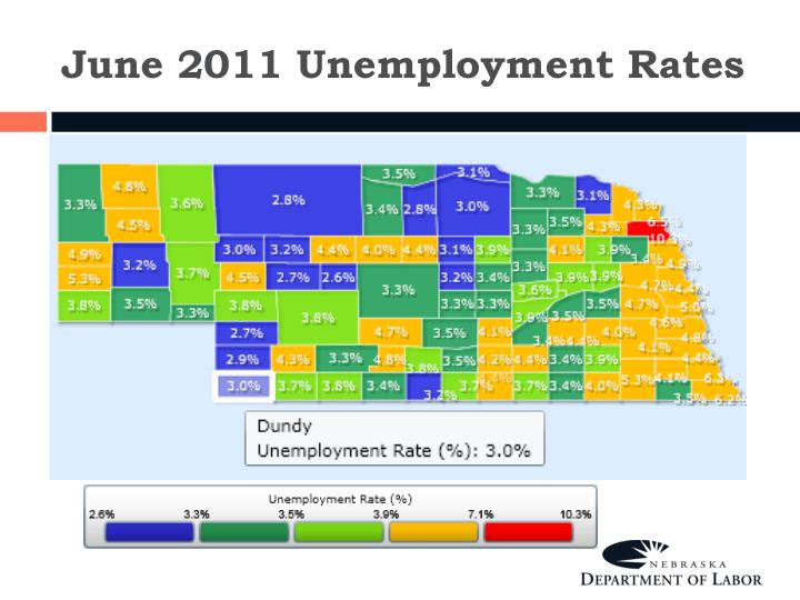 June 2011 Unemployment Rates