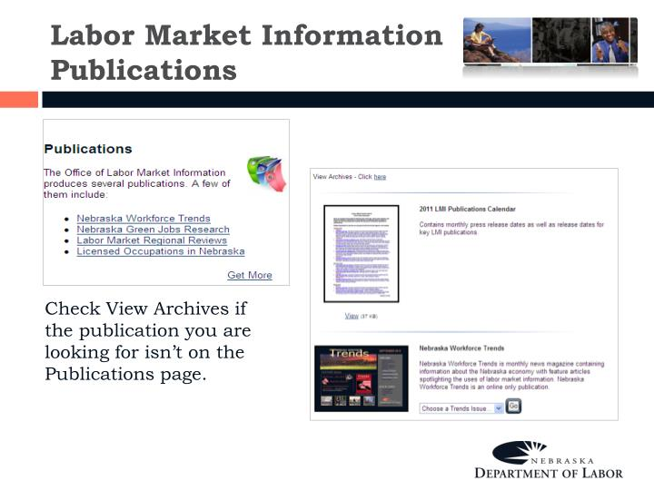 Labor Market Information Publications