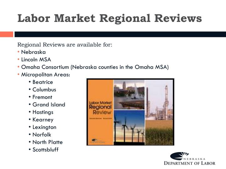 Labor Market Regional Reviews