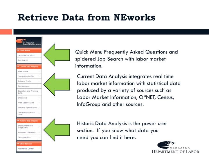Retrieve Data from NEworks