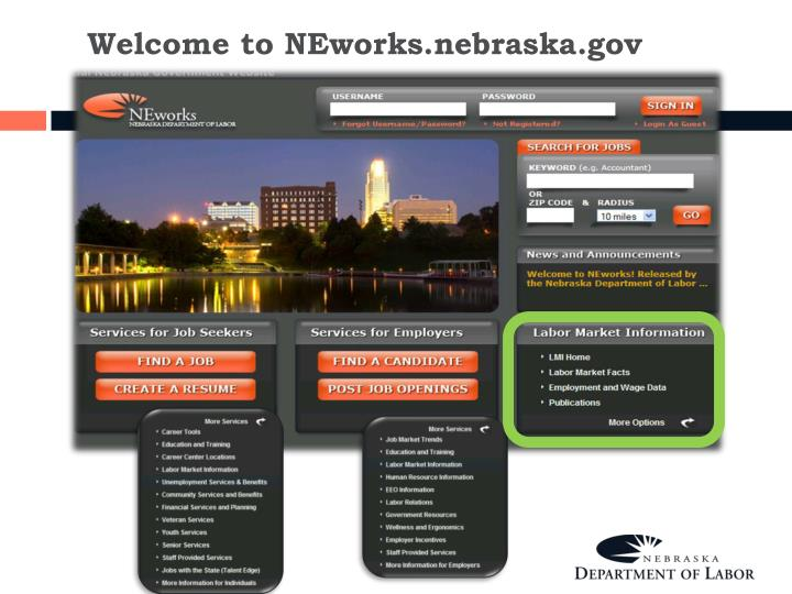 Welcome to NEworks.nebraska.gov