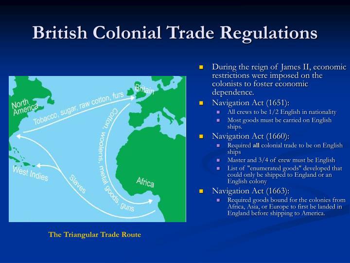 British Colonial Trade Regulations