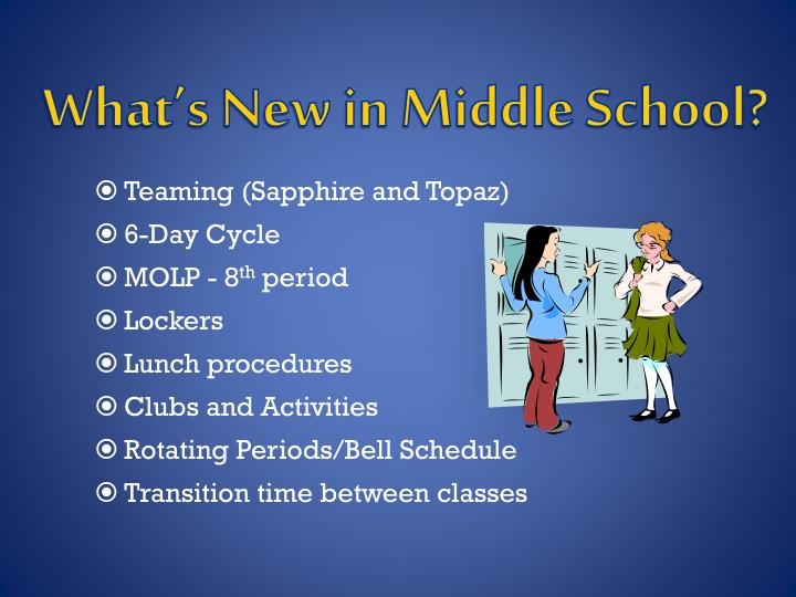 What's New in Middle School?