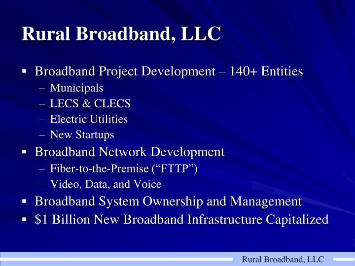 Rural Broadband, LLC