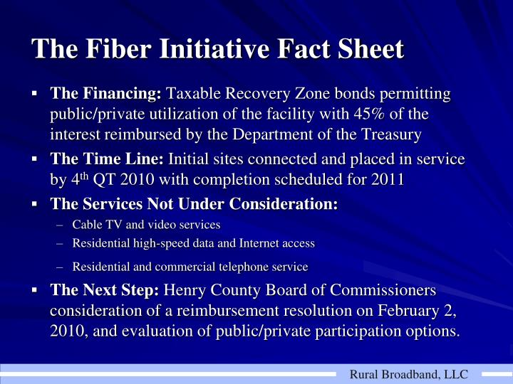 The Fiber Initiative Fact Sheet