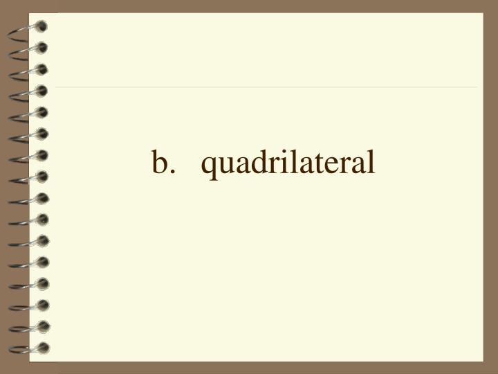 b.quadrilateral