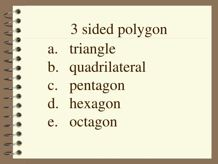 3 sided polygon