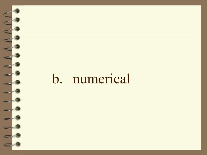 b.numerical
