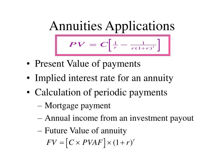 Annuities Applications
