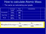 how to calculate atomic mass