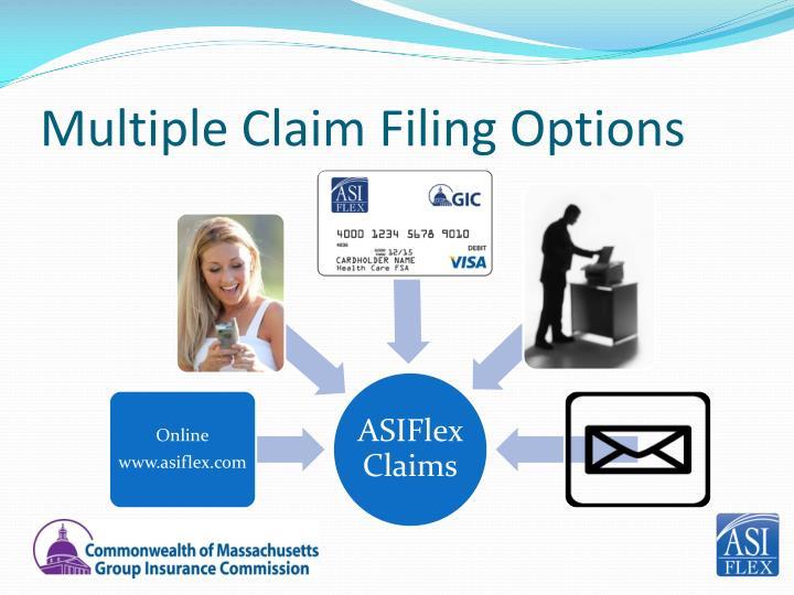 Multiple Claim Filing Options