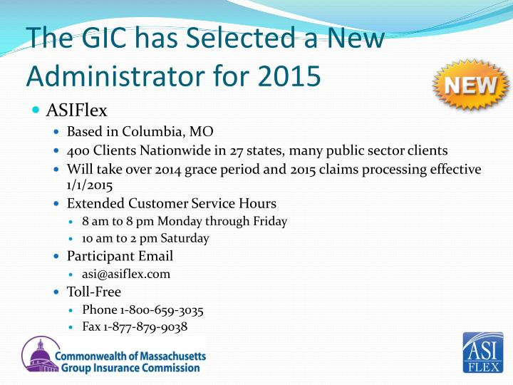 The GIC has Selected a New Administrator for 2015