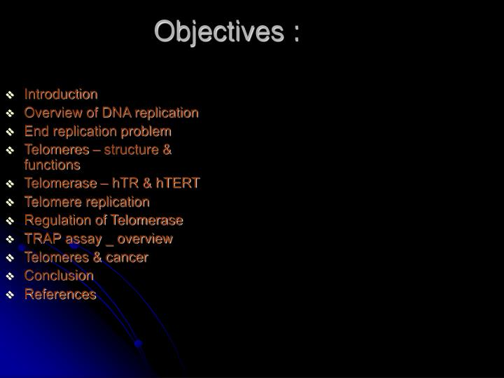 Objectives :