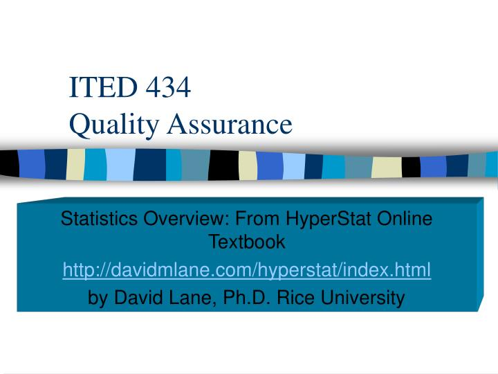 Ited 434 quality assurance