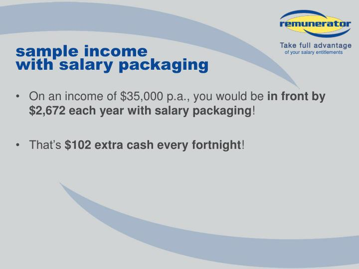sample income