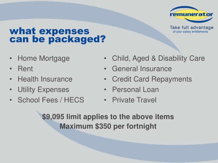 what expenses
