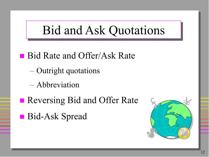 Bid and Ask Quotations