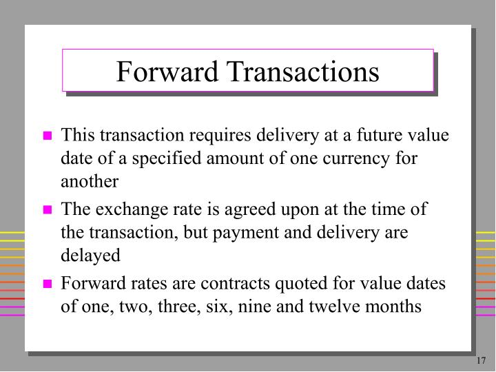 Forward Transactions