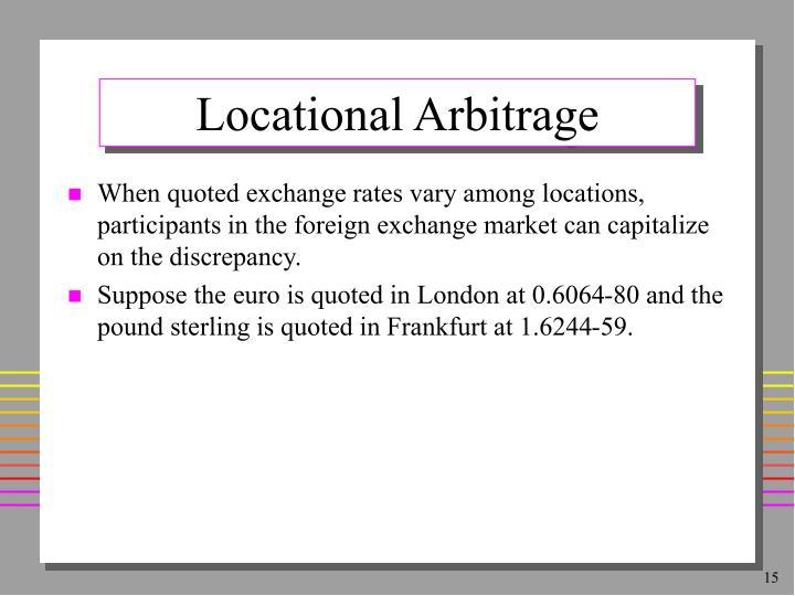 Locational Arbitrage