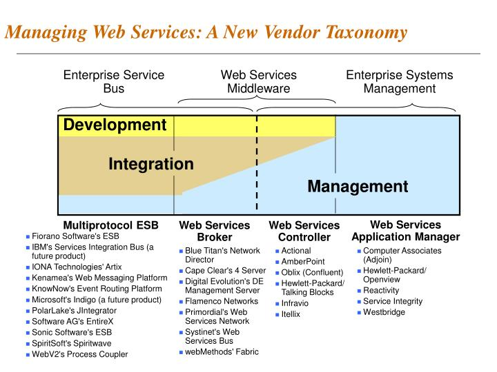 Managing Web Services: A New Vendor Taxonomy
