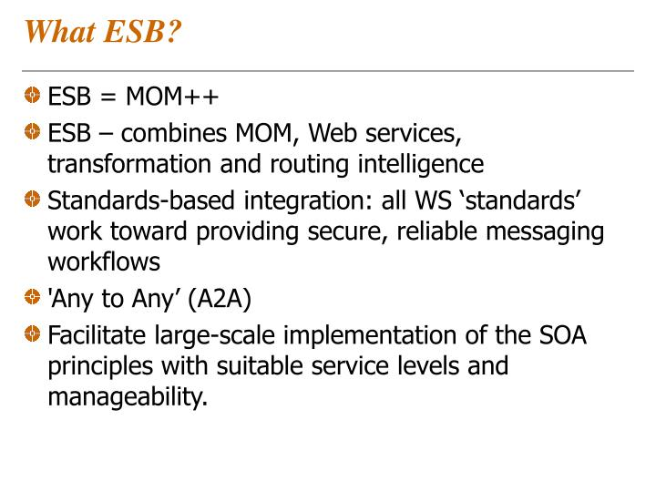 What ESB?