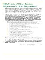 hipaa notice of privacy practices hospital health center responsibilities