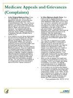 medicare appeals and grievances complaints