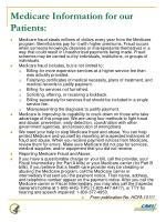 medicare information for our patients
