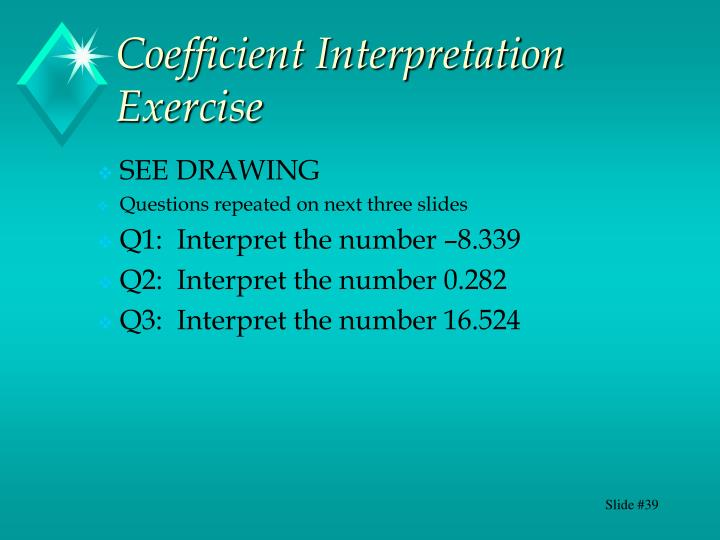 Coefficient Interpretation Exercise