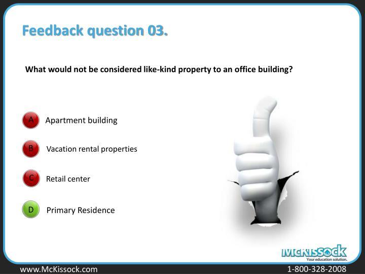 Feedback question 03.