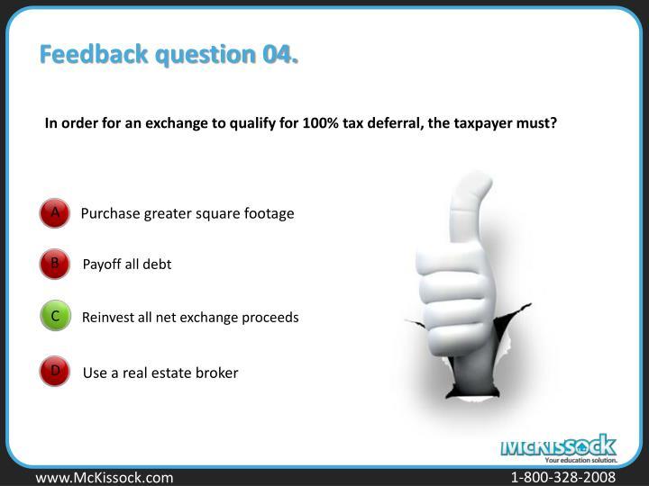Feedback question 04.