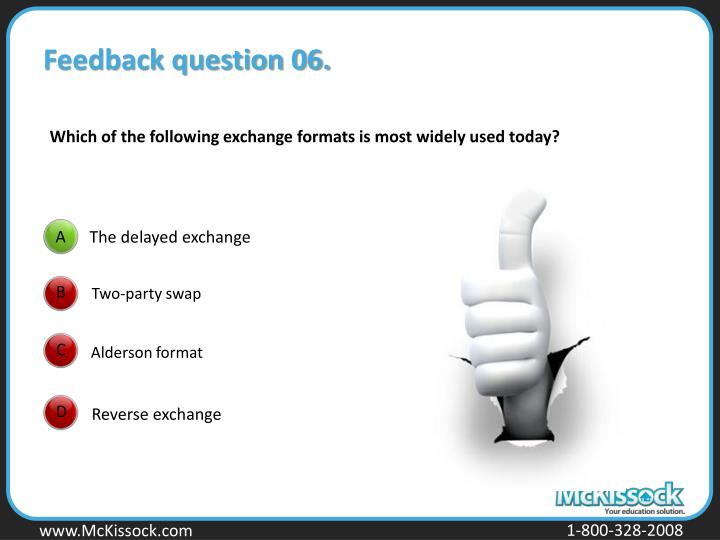 Feedback question 06.