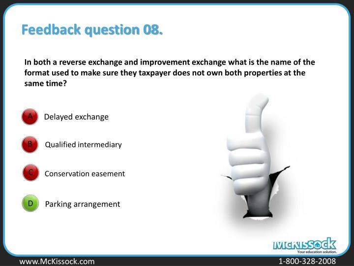 Feedback question 08.
