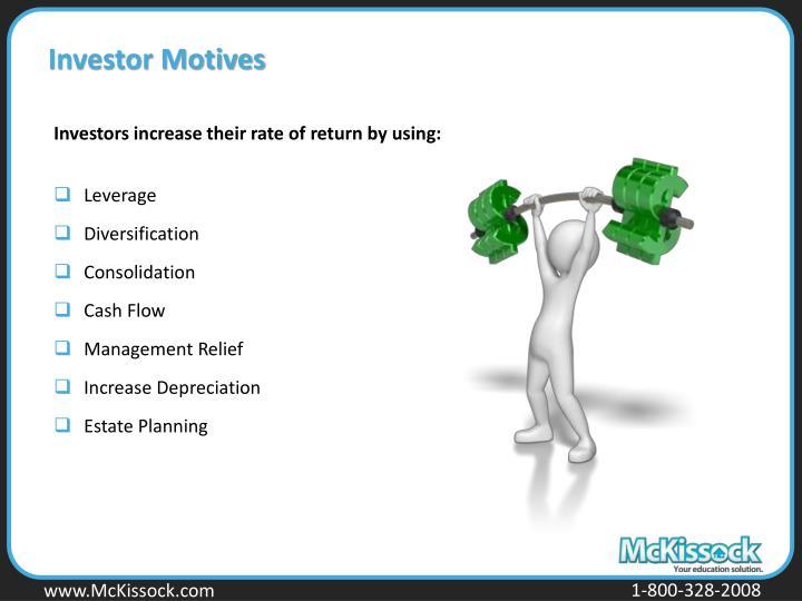 Investor Motives