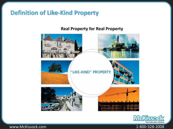Definition of Like-Kind Property