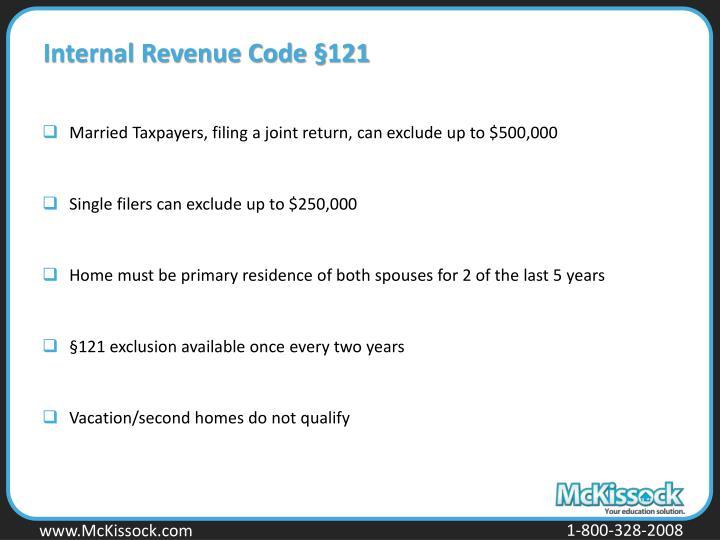 Internal Revenue Code §121