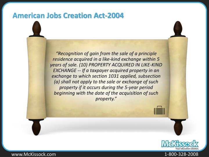 American Jobs Creation Act-2004