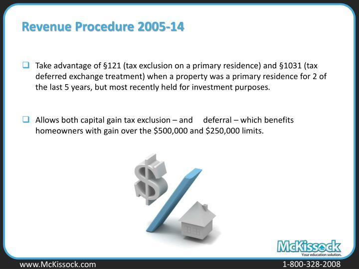 Revenue Procedure 2005-14