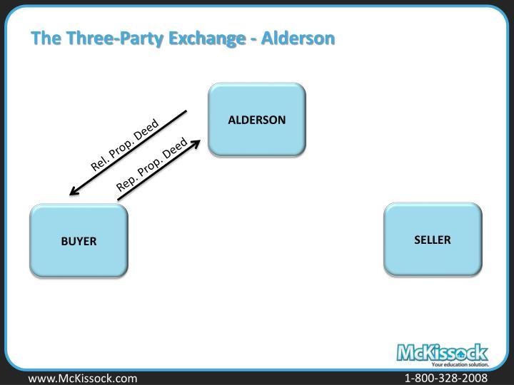 The Three-Party Exchange - Alderson