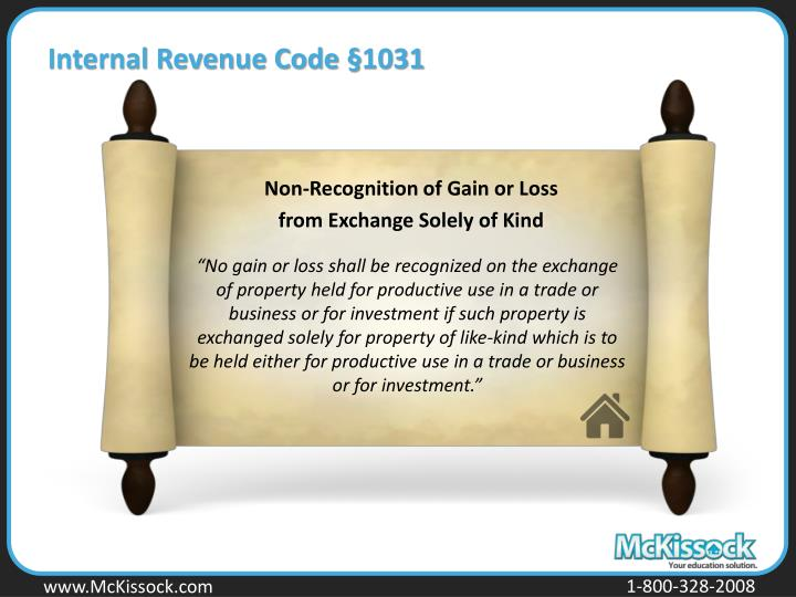 Internal Revenue Code §1031