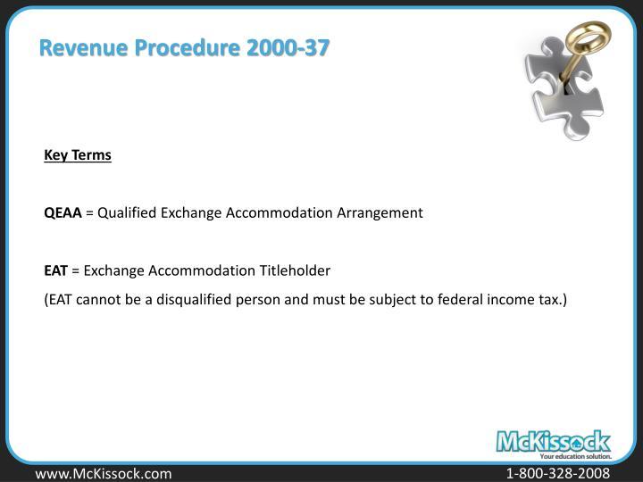 Revenue Procedure 2000-37