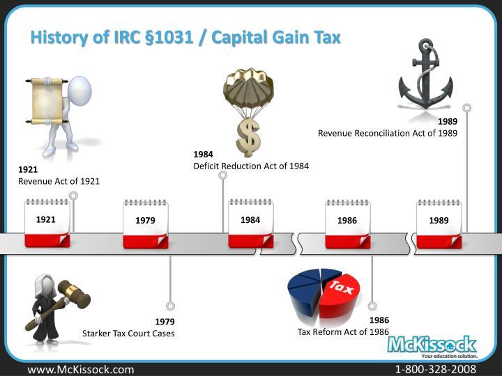 History of IRC §