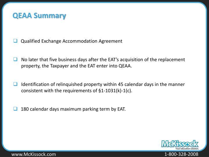 QEAA Summary