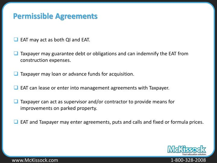 Permissible Agreements